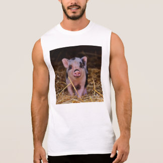 mini pig sleeveless shirt