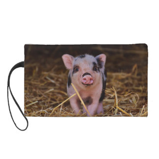 mini pig wristlet
