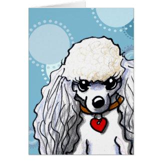 Mini Poodle Card