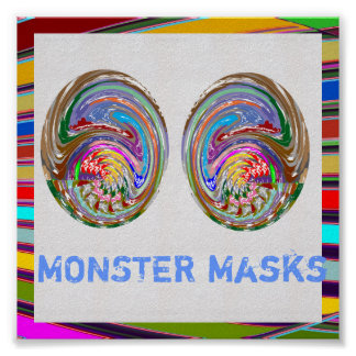 MINI Posters: MONSTER Maskes Poster