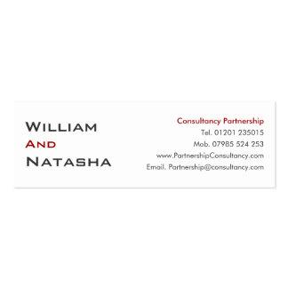 Mini Profile Card - Consultancy partnership Mini Business Card