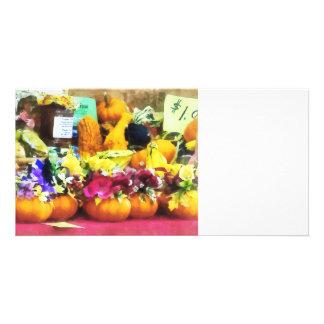 Mini Pumpkins and Gourds at Farmer s Market Photo Card