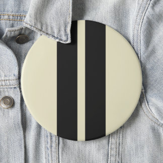 Mini Racing Stripes on ANY COLOR Background 6 Inch Round Button