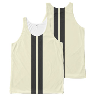 Mini Racing Stripes on ANY COLOR Background All-Over-Print Tank Top