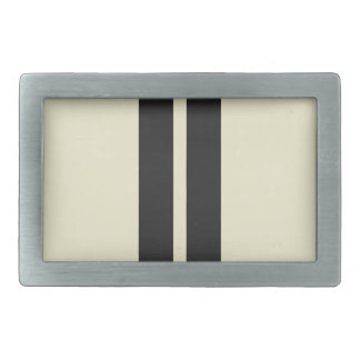 Mini Racing Stripes on ANY COLOR Background Rectangular Belt Buckle