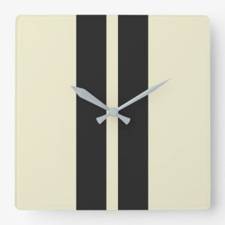 Mini Racing Stripes on ANY COLOR Background Square Wall Clock