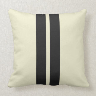 Mini Racing Stripes on ANY COLOR Background Throw Pillow