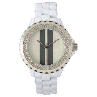 Mini Racing Stripes on ANY COLOR Background Watch