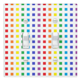 Mini Rainbow Squares Light Switch Cover
