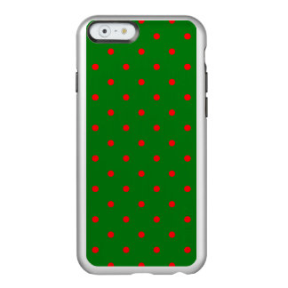 Mini Red Dots on Christmas Green Incipio Feather® Shine iPhone 6 Case