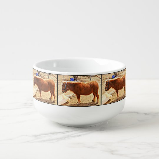 Mini Red Horse Soup Mug