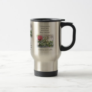 Mini Red Rose 1 Corinthians 13:4-7 Travel Mug