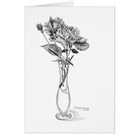Mini-Roses in pencil Card