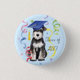 Mini Schnauzer Graduate 1 Inch Round Button