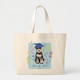 Mini Schnauzer Graduate Large Tote Bag
