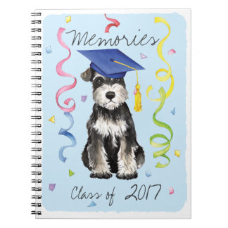 Mini Schnauzer Graduate Notebooks