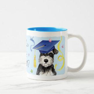 Mini Schnauzer Graduate Two-Tone Coffee Mug