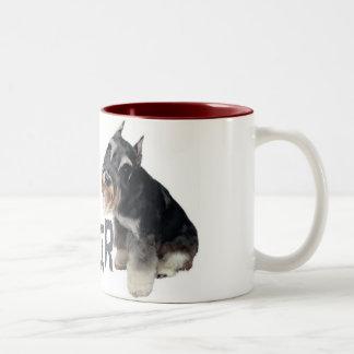 Mini Schnauzer Two-Tone Coffee Mug