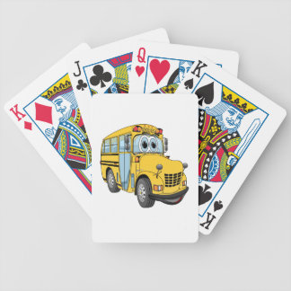 Mini School Bus Cartoon Bicycle Playing Cards