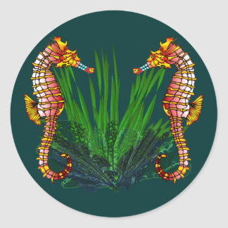 Mini Sequaruium Peeks Sea Horse Stickers
