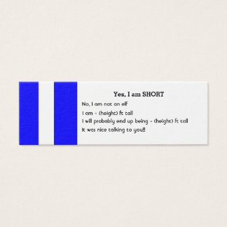 Mini SHORT People Business Cards