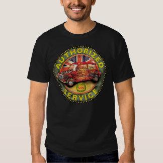 Mini signe coupé vintage de service d'Austin T Shirts