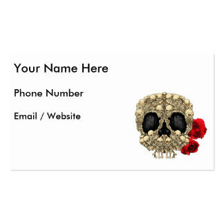 Mini Skeletons Sugar Skull Pack Of Standard Business Cards
