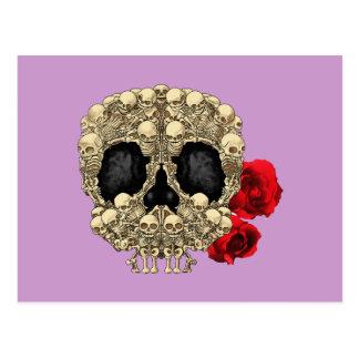 Mini Skeletons Sugar Skull Postcard