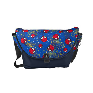 Mini Spider-Man and Web Pattern Courier Bags