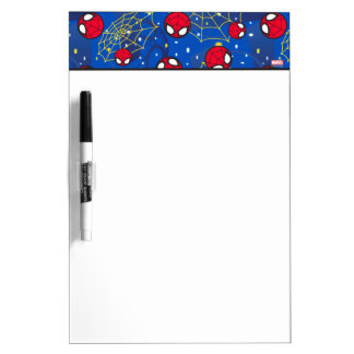 Mini Spider-Man and Web Pattern Dry Erase White Board