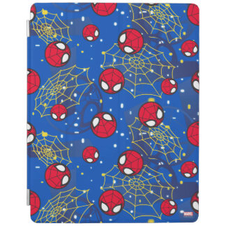 Mini Spider-Man and Web Pattern iPad Cover