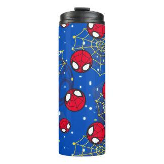 Mini Spider-Man and Web Pattern Thermal Tumbler