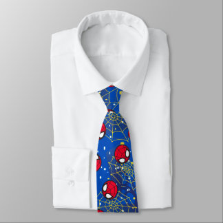 Mini Spider-Man and Web Pattern Tie