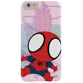 Mini Spider-Man & City Graphic Barely There iPhone 6 Plus Case