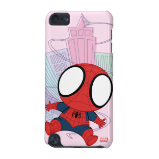 Mini Spider-Man & City Graphic iPod Touch (5th Generation) Cover