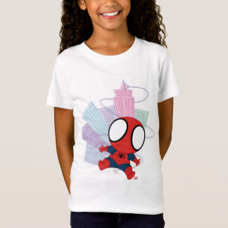 Mini Spider-Man & City Graphic T-Shirt
