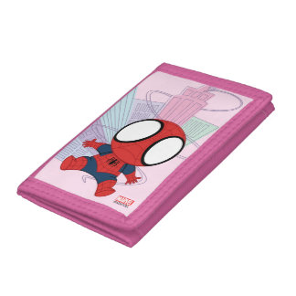 Mini Spider-Man & City Graphic Trifold Wallets