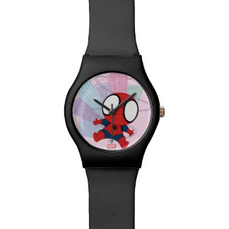 Mini Spider-Man & City Graphic Wristwatches