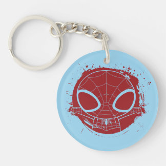 Mini Spider-Man Grunge Graphic Double-Sided Round Acrylic Keychain