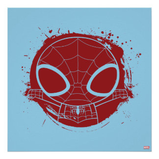 Mini Spider-Man Grunge Graphic Poster