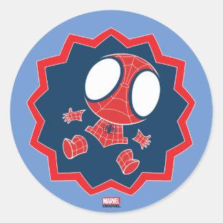 Mini Spider-Man in Callout Graphic Classic Round Sticker