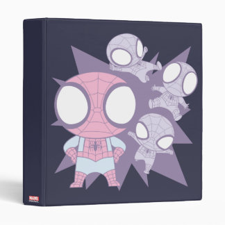 Mini Spider-Man Poses 3 Ring Binder