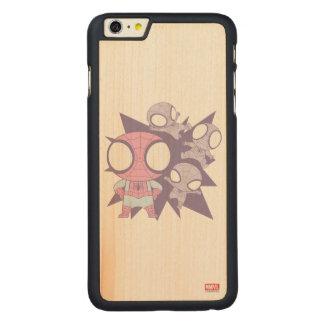 Mini Spider-Man Poses Carved® Maple iPhone 6 Plus Case