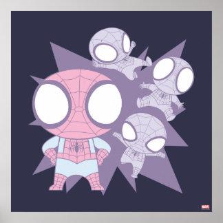 Mini Spider-Man Poses Poster