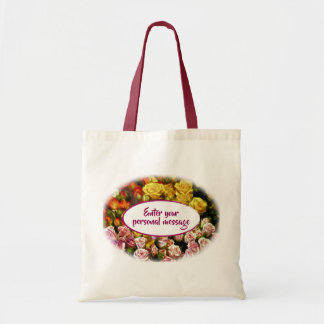 Mini Spray Roses ready to be Personalized Tote Bag