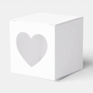 Mini Square Favour Box with Heart Cutout & Logo Party Favor Boxes