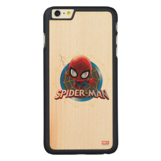 Mini Stylized Spider-Man in Web Carved® Maple iPhone 6 Plus Case