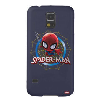Mini Stylized Spider-Man in Web Case For Galaxy S5