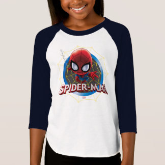 Mini Stylized Spider-Man in Web T-Shirt