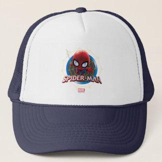 Mini Stylized Spider-Man in Web Trucker Hat